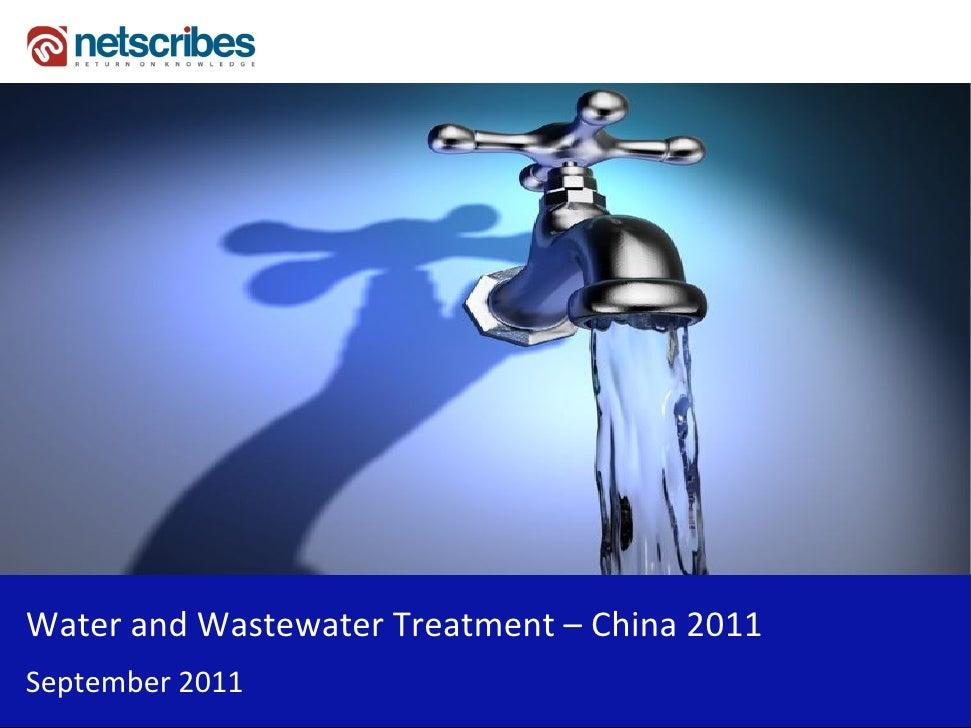 WaterandWastewaterTreatment– China2011September2011