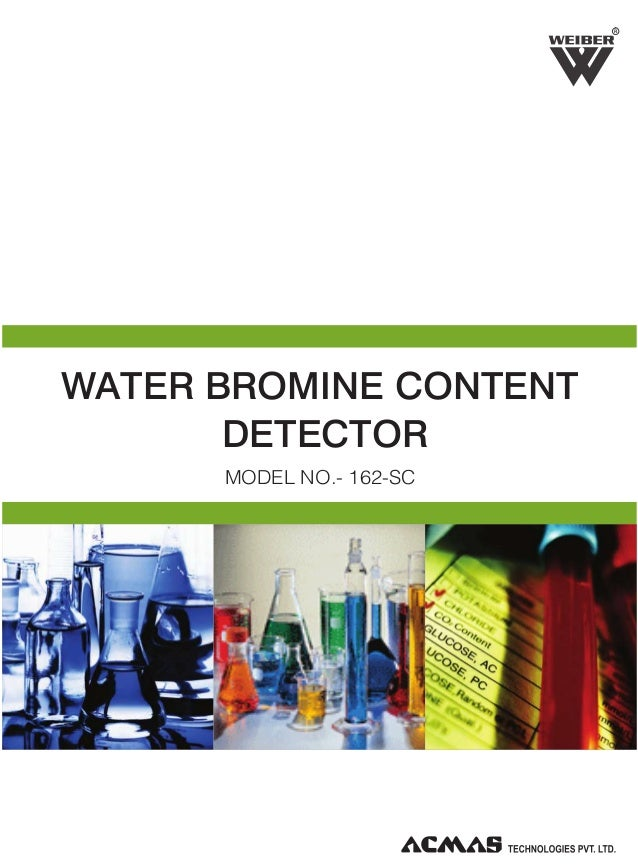 R  WATER BROMINE CONTENT DETECTOR MODEL NO.- 162-SC