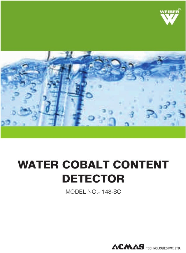 R  WATER COBALT CONTENT DETECTOR MODEL NO.- 148-SC