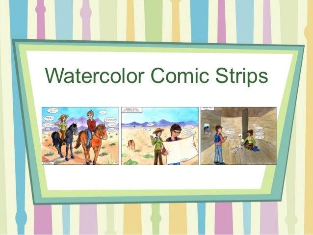 Watercolor Comic Strips