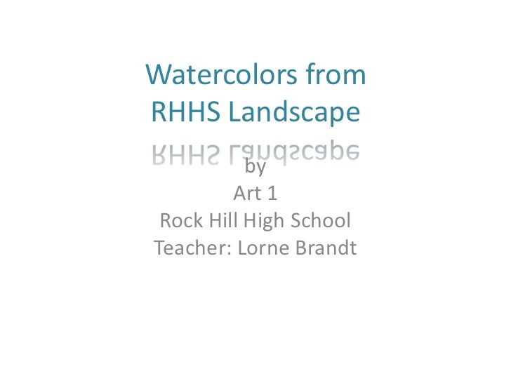 Landscape Watercolors from Art 1 at Rock Hill H.S.