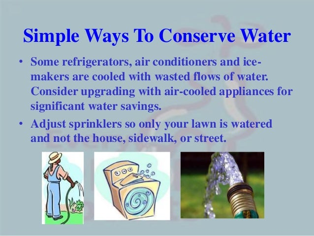 essay on conservation of water Water conservation refers to reducing the usage of water and recycling of waste water for different purposes such as cleaning, manufacturing, and agricultural irrigation.