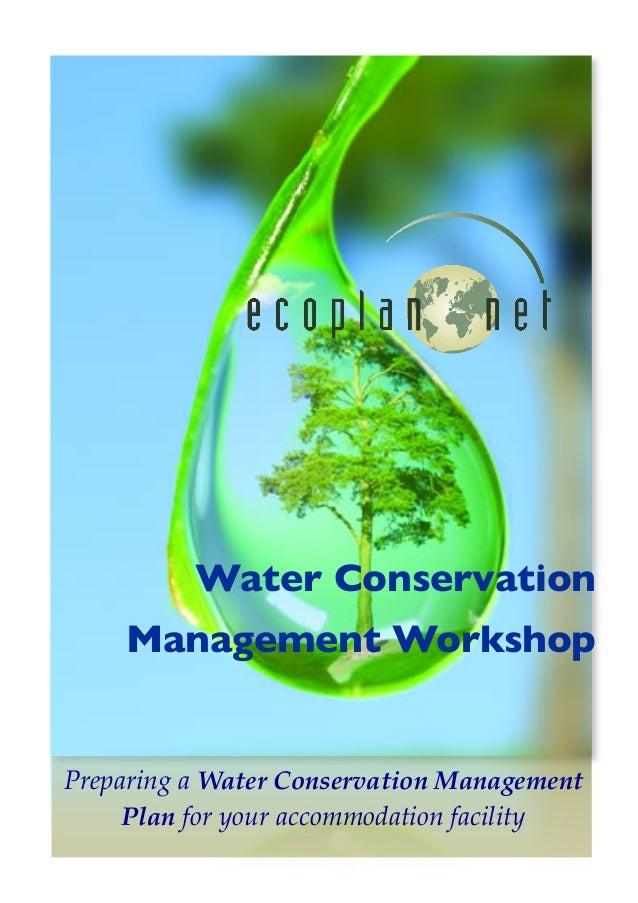 Water Conservation Management Planning Workshop (Tourist Accommodation)