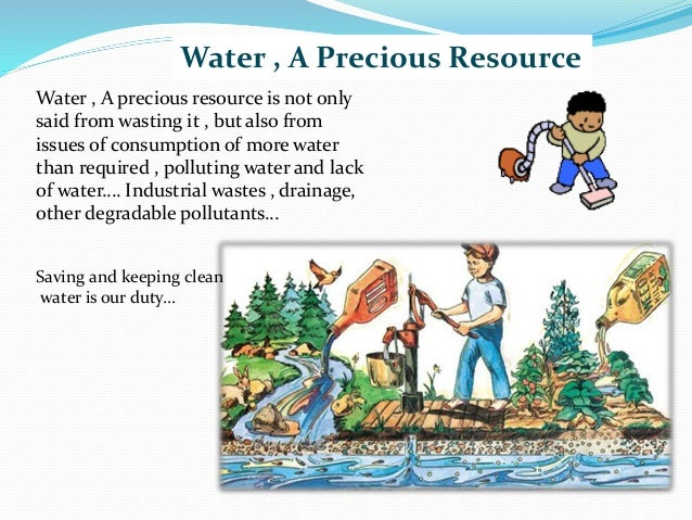 Essay on water is precious