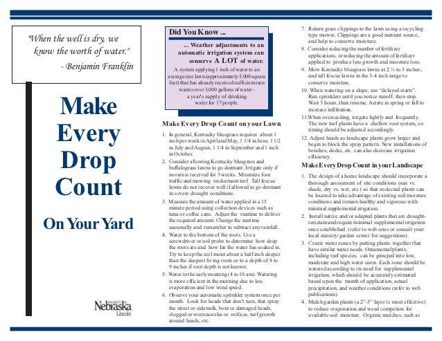 Make Every Drop Count on Your Yard - University of Nebraska