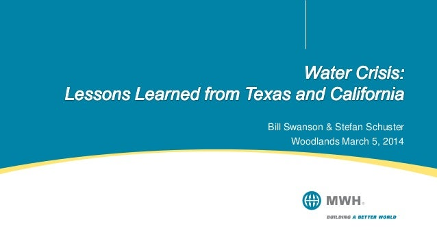 Water crisis and lessons learned from Texas and California