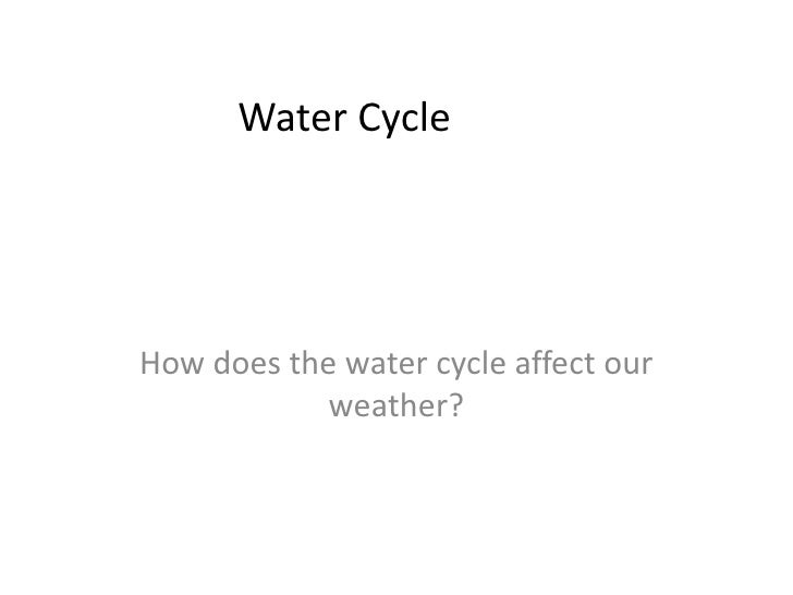 Water Cycle<br />How does the water cycle affect our weather?<br />