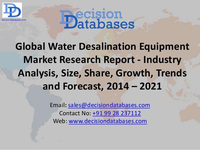 Water Desalination Market Size Worth USD 281 Billion by 2025: Hexa Research