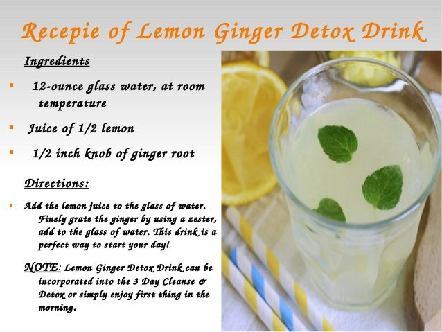 Water detoxing for weight loss