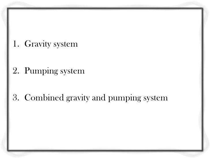 Gravity Water Pump Combined Gravity And Pumping