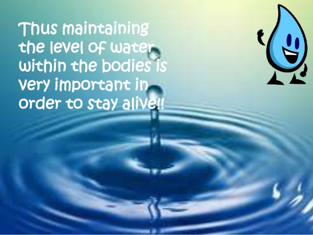 precious water essay The importance of water on life essayswater has many roles in living organisms and life on earth is impossible without it it makes up between 60% and 95% of the fresh mass of the organisms.