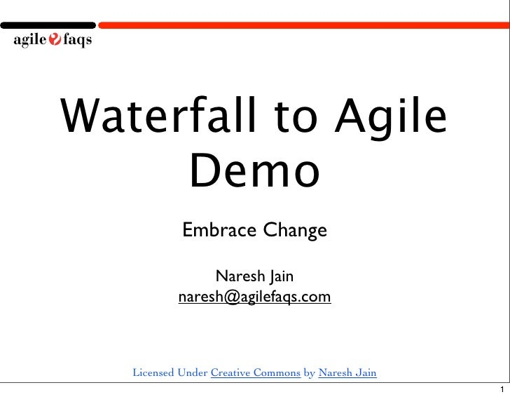 Waterfall to Agile Demo