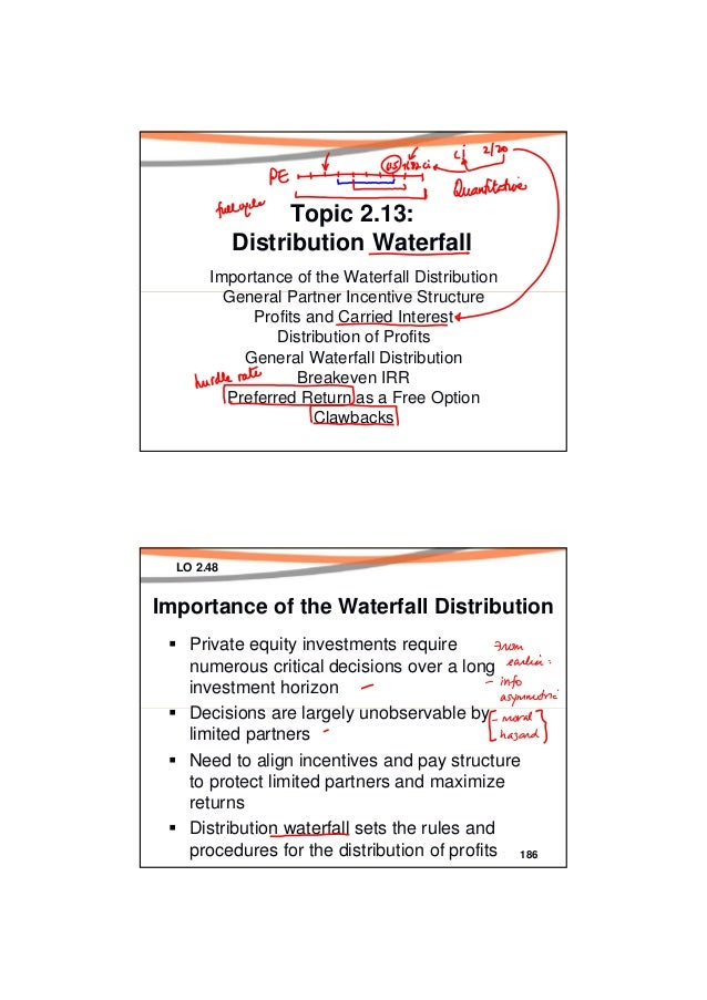 Topic 2.13:            Distribution Waterfall       Importance of the Waterfall Distribution         General Partner Incen...