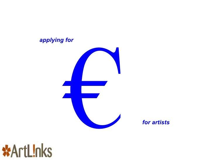 ArtLinks Applying for Funding