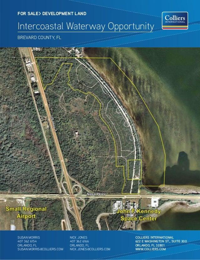 FOR SALE> DEVELOPMENT LAND     Intercoastal Waterway Opportunity     BREVARD COUNTY, FL                                   ...