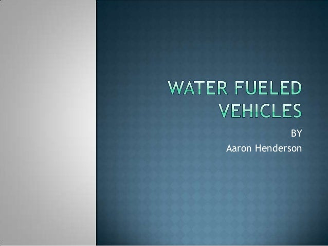 Water fueled vehicles