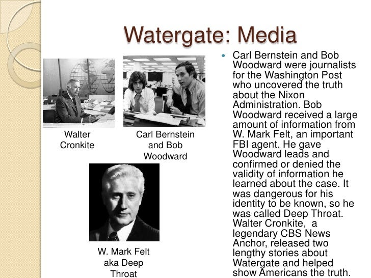 Not identify of watergate deep throat think