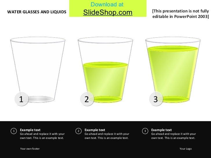 Water glasses & liquids - green
