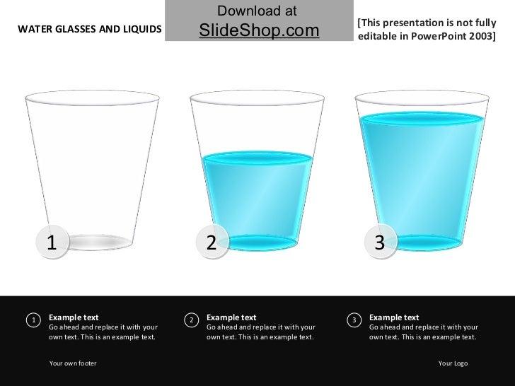 Water glasses & liquids - Blue