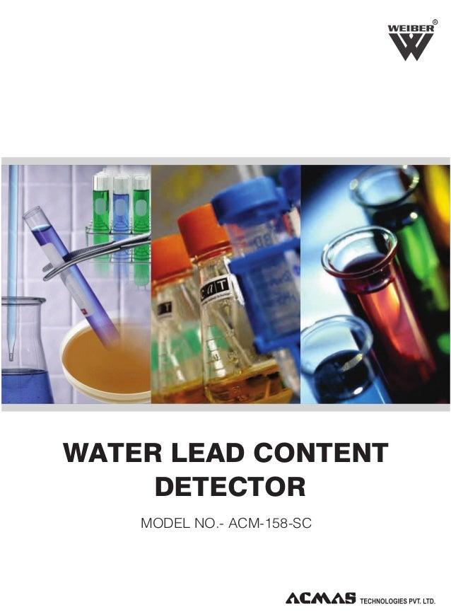 R  WATER LEAD CONTENT DETECTOR MODEL NO.- ACM-158-SC