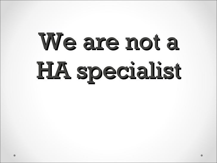 We are not aHA specialist