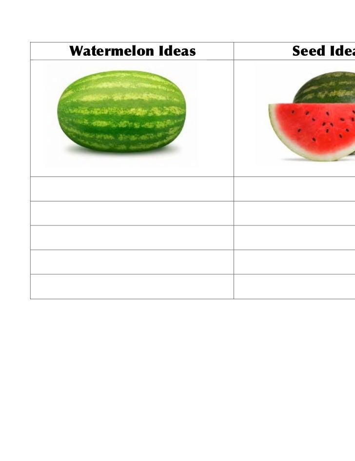 Watermelon Ideas   Seed Ideas