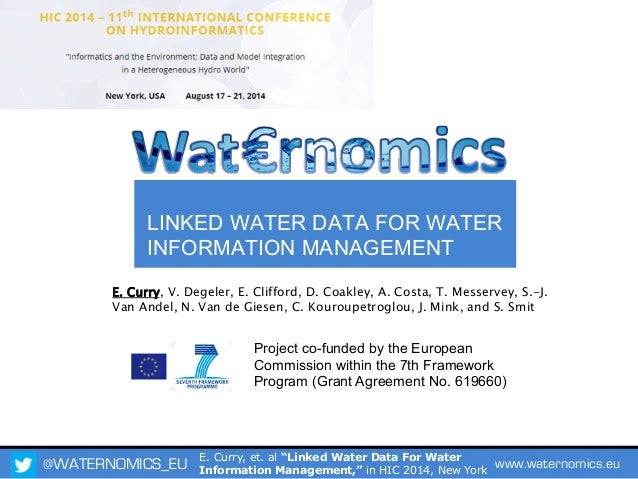 Linked Water Data For Water Information Management
