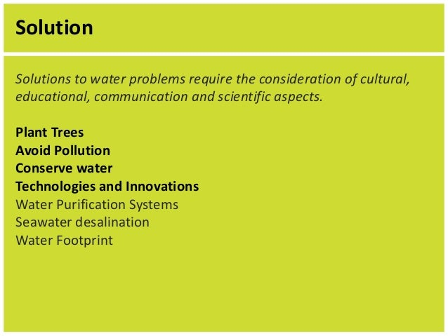 problem solution essay water pollution