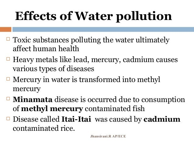 effect of water pollution on human essay Causes effects of water pollution environmental sciences essay print but also in human the effects of water pollution are varied and depend on what.