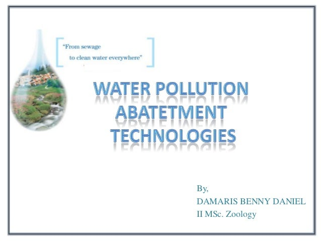Water pollution abatement technology