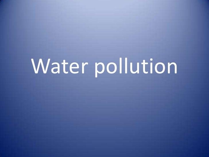 Water Pollution Abu Dhabi