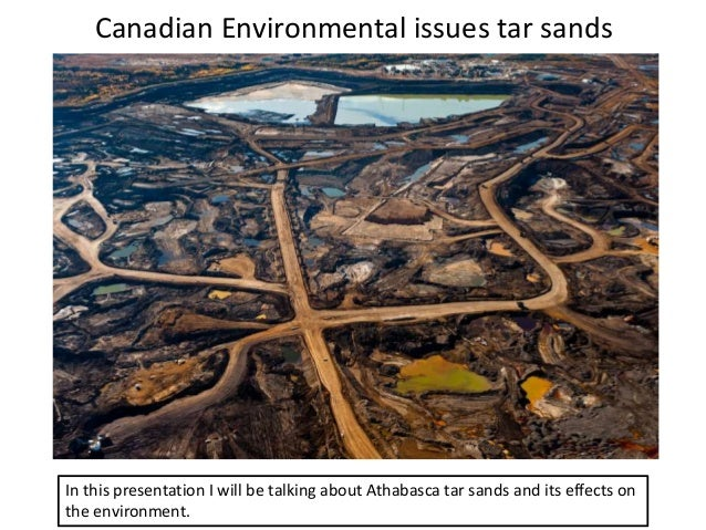 Canadian Environmental issues tar sands In this presentation I will be talking about Athabasca tar sands and its effects o...