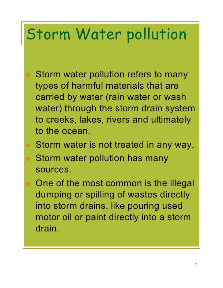 essay about water pollution solution