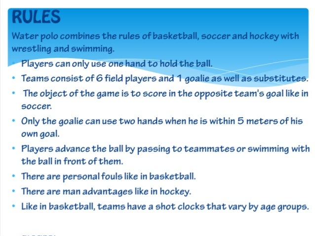 rules water polo