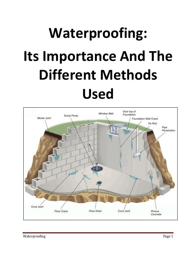 Basement Waterproofing Methods : Why basement waterproofing is necessary and how it done