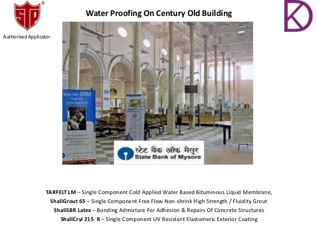 Water Proofing On Century Old Building TARFELT LM – Single Component Cold Applied Water Based Bituminous Liquid Membrane, ...