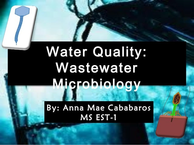 Water Quality: Wastewater Microbiology By: Anna Mae Cababaros MS EST-1