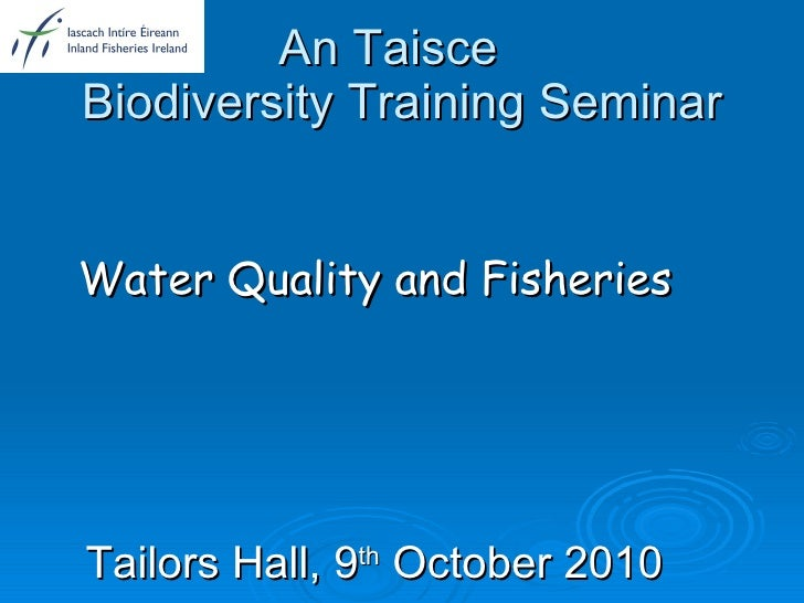 Water quality & fisheries