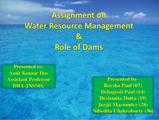 water resources management in india Urbanisation and water resources in india  and social problems associated with water scarcity point to a crisis in urban water resources management,.