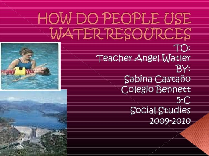 Water resources 22