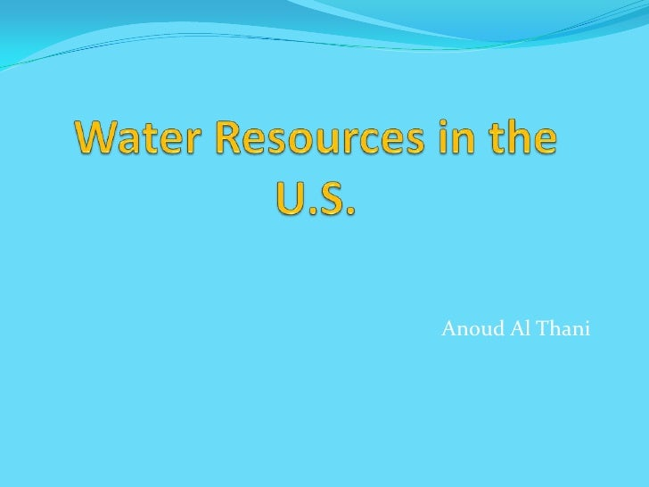 Water Resources In The Usa