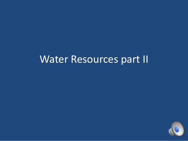 HPU NCS2200 Water resources part ii