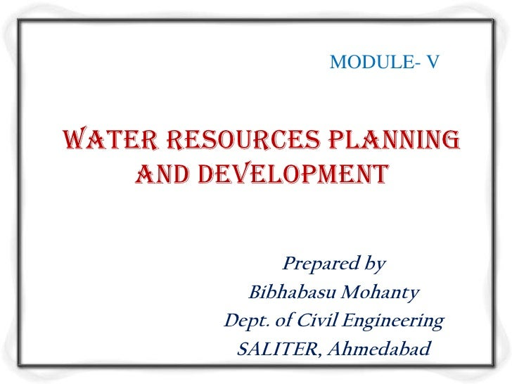 Water resources planning and development m5