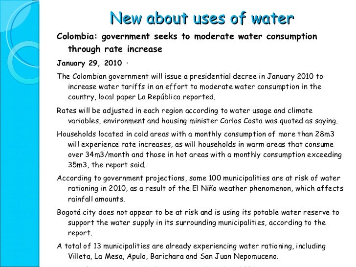Water resources essay