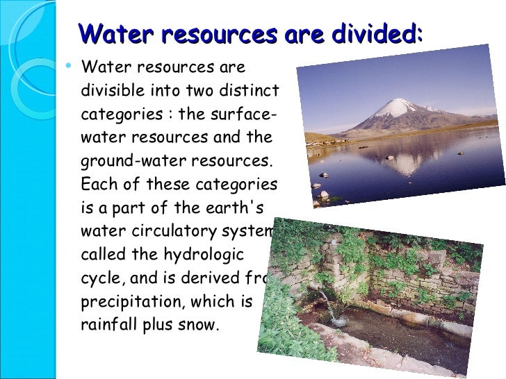 essay on importance of water resources