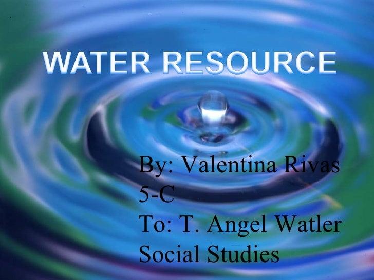 Water resource valentina rivas booklet