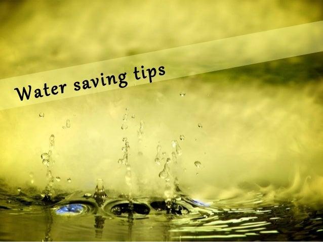 tips aving ter s Wa