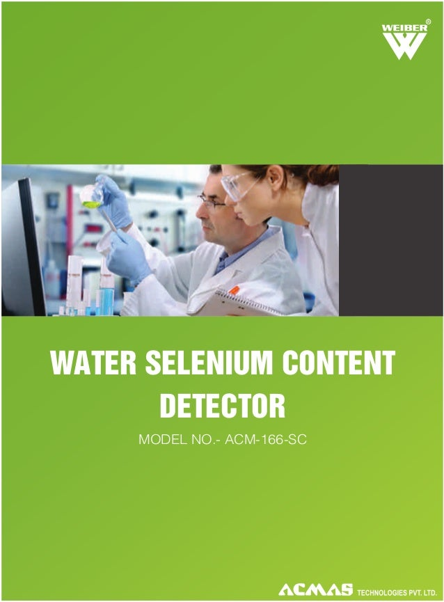 Water Selenium Content Detector by ACMAS Technologies Pvt Ltd.
