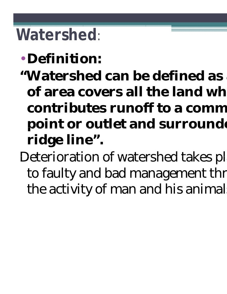 Thesis in watershed management