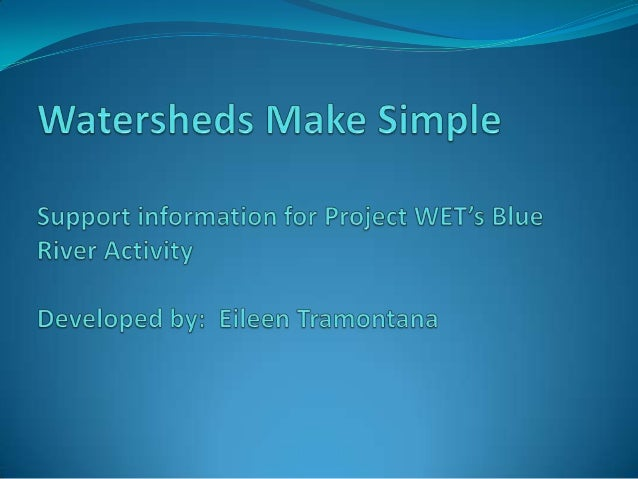 A simple definition A watershed encompasses all of the land area that drains  to a given water body. When it rains, all ...